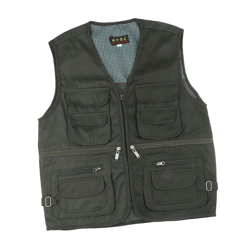 忠誠不幸壮大なBaosity 屋外作業 撮影 釣りベスト ジャケット メンズ マルチポケット 耐久性 軽量 3サイズ