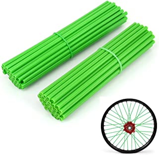 JFG RACING 72 Pcs Green Motorcycle Spoke Covers Guards For 19