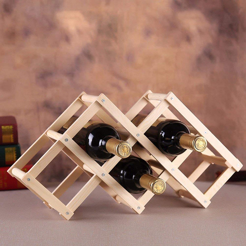 Red Wine Shelf Wine Rack Solid Wood Home Decoration Creative Gifts 3 Bottles 6 Bottles,A (color   B)