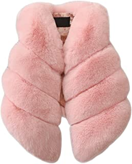Baby Girls Artificial Fur Vest Soft Faux Fur Warm Waistcoat Sleeveless Jacket Coat for Toddlers Children Kids