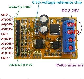 Seasons Shop R4AVA07 Colector analógico de Voltaje RS485 de 7 Canales, ADC Modbus RTU 03 06 Código de función Show