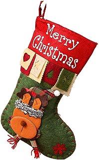 "skyfiree Christmas Stockings 18"" Big Xmas Stockings Large Christmas Decorations Santa Snowman Reindeer Stocking for Family..."