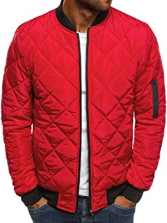XWLY Men Jacket Without A Hood Spring and Autumn Warm Transition Jacket Regular Fit Comfortable Soft Thin and Light Zip Ja...