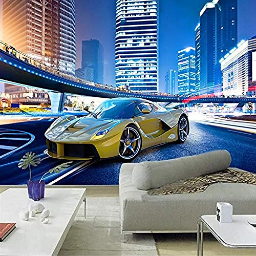 City Night Sports Car Building Series Custom 4D Wallpaper Wall Decoration Hd Print Art Print Wall Painting for Living Room Tv Ba 3D Wallpaper Paste Living Room The Wall for Bedroom Mural-430cm×300cm