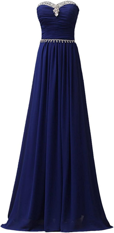 Oppicong Women's Plus Size Bridal Gown Handmade Gemstone Strapless Long Dress