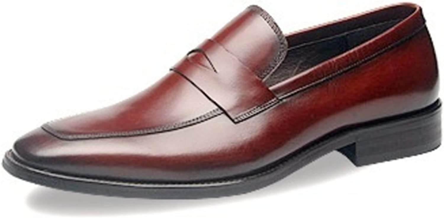 LINYI High-end New Men's Solid color Business Dress Small Square Leather Men's shoes Gift Boutique