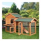 "58"" Chicken Coop Backyard Hen Wooden Rabbit House Wood Hutch w/Run"