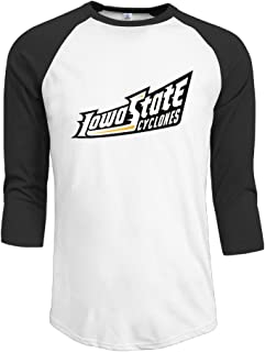 GUC Men's 3/4 Sleeve Tee - Iowa State University Cyclones Black L