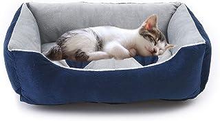 Vanhua ペットベット ペットソファ ソフト マットペット用品 通年タイプ クッション 洗える ふんわり 中型猫/犬用 (青色) (S)