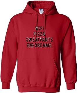 YM Wear Adult Wifi Pizza Sweatpants Big Dreams Black Hoodie Hooded Sweater