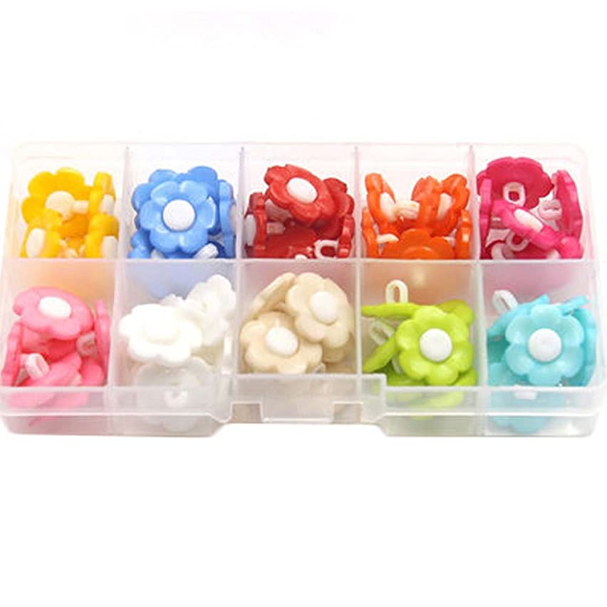 George Jimmy 100 PCS Cute Children Buttons Baby Shirts Sweaters Buttons Sewing Clothes Round Buttons Accessories