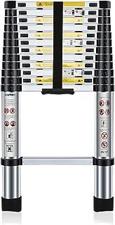 comprar comparacion Nestling® 3.8M Escalera Telescópica Multiusos de Aluminio Portátil. Extensión Plegable y Extensible EN131, Carga Máxima 15...