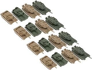 CUTICATE 16pcs 1/144 Scale Plastic Battle Tanks Model US M1A2 and CN ZTZ-99 Tank for war Game Miniature Landscape Diorama Scenery Layout