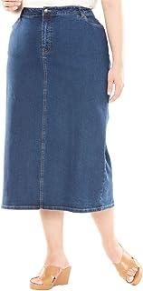8d2ce9a6dea Jessica London Women s Plus Size True Fit Denim Maxi Skirt