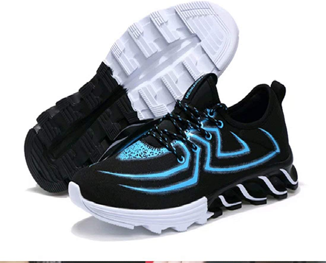 Men's Running Shoes Breathable Non-Slip Fashion Sneakers Trainers Spider Blue