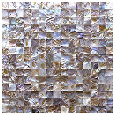 """Art3d Mother of Pearl Colorful Mini Square Mosaic Tile 12"""" X 12"""""""