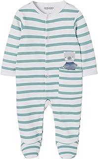 e7df3498bcb8b VERTBAUDET Pyjama bébé molleton pressionné devant rayé vert 12M - 74CM