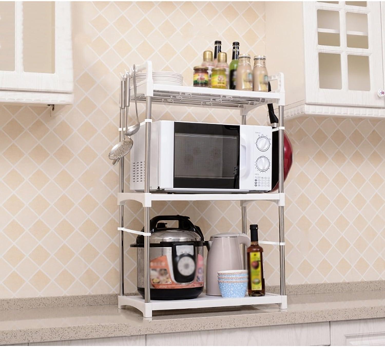 Storage Rack European-style Plastic Kitchen Racks Oven Rack Multi-shelf White ( Size   A )