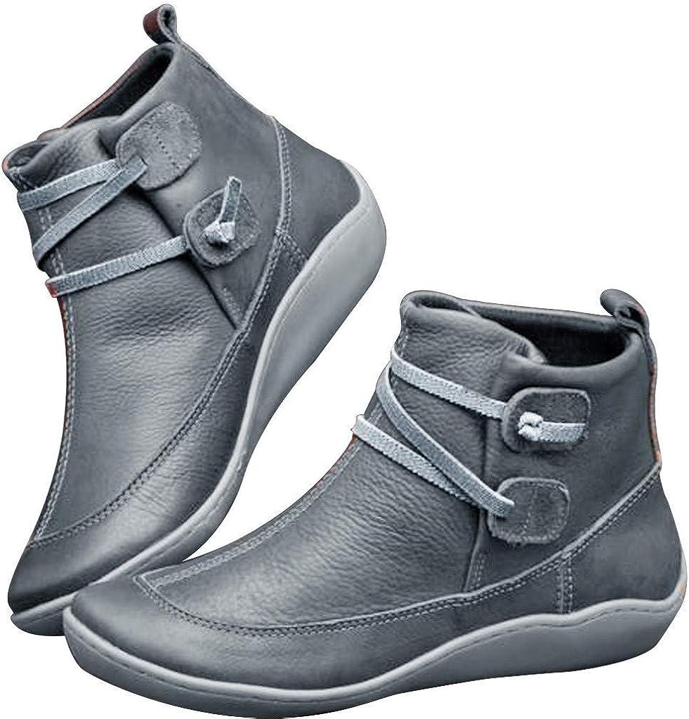 Women's outlet Snow Boots Popular WUAI Women Arch Comfy Flat Support Heel
