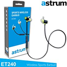 Astrum ET240 Bluetooth Wireless Sport Headphones - Bluetooth Earbud (Gym/Running/Hiking/Jogger/Exercise) Hands-free Calling Headset with Build-in Mic for any Bluetooth Enabled Devices - GREEN