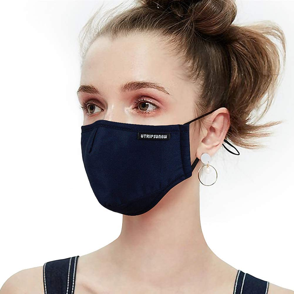 Organic cotton face mask mouth cover cotton mask by Mouth shutters Scribble face mask
