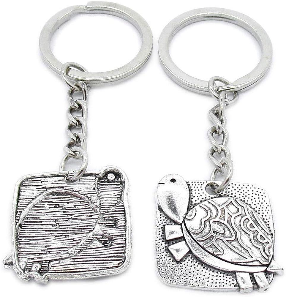 Metal Antique Silver Max 78% OFF Color Keychains Tur Keyrings Tortoise GA0V3 unisex