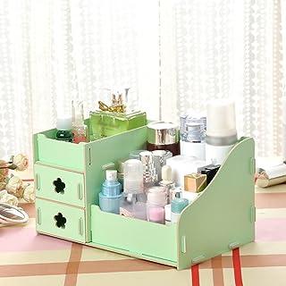 メイクボックス DIYテーブル収納メイクスキンケアオーガナイザー引き出しタイプリップスティックケースボックス ( 色 : 緑 )
