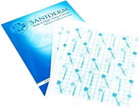 Saniderm Tattoo Bandage   Personal Pack   3 Pre-Cut Sheets, Clear Adhesive Antibacterial Film