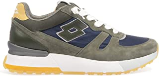 Luxury Fashion | Lotto Men 2140246F0 Green Suede Sneakers | Spring-summer 20