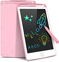 Tecboss LCD Writing Tablet, Pink, 8.5 inch Electronic Drawing Pads for Kids, Portable Reusable Erasable Ewriter, Elder Message Board,Digital Handwriting Pad Doodle Board for School, Kitchen or Office