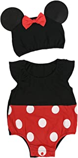 Infant Baby Girls Boys Mini Mouse Halloween Christmas Cosplay Outfits Romper with Ear Hat
