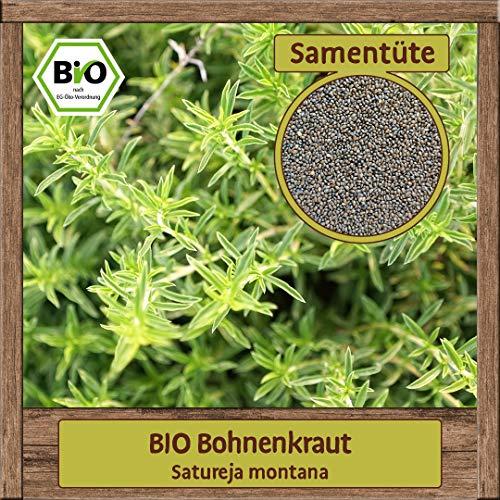 Samenliebe BIO Bohnenkraut Samen (Satureja montana) Kräutersamen Saatgut Anzucht Kräuterbeet Pfefferkraut für 20 m²