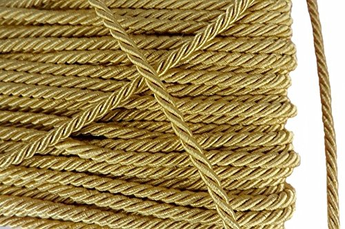Gold Shiny Twist Twine Cord Choker Thread String Rope Piping Supplies Chain 3 Yards