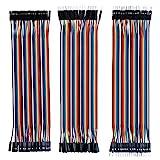ELEGOO 120 Piezas de Cable DuPont, 40 Pines Macho-Hembra, 40 Pines Macho-Macho, 40 Pines Hembra-Hembra, Cables Puente para Placas Prototipo (Protoboard) para Arduino