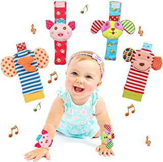 Bloobloomax Baby Einstein Toys Soft Foot Finder Socks Wrists Rattles Ankle Leg Hand Arm Bracelet Activity Rattle Baby Show...