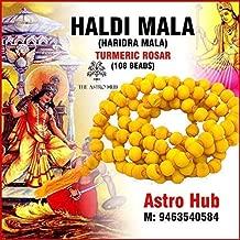 Astro Hub Baglamukhi Mala/Haldi 108 Beads Jaap Mala (Yellow)