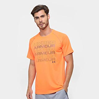 Camiseta Under Armour Keep Stacking Laranja