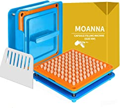 Upgraded Version 100 Holes Capsule Filling Machine - Capsule Holder With Tamper for Size 00 capsules Holding Tray Pill Dispensers & Reminders(Free Use English Instructions)