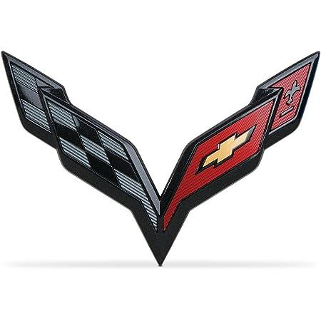 Car Emblem Badge Sticker Fender Emblems For Corvette C7 C3 Vette ...