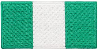 EmbTao Nigeria Flag Patch Embroidered National Morale Applique Iron On Sew On Nigerian Emblem