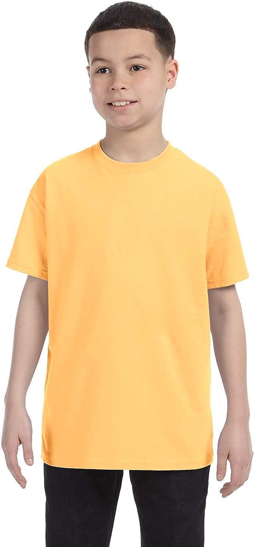 By Gildan Youth 53 Oz T-Shirt - Yellow Haze - XS - (Style # G500B - Original Label)