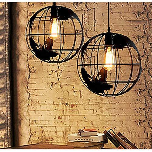 duradera Lámpara de cristal de escalera Villa de lujo Sala de estar Iluminación Iluminación Hierro negro Viento industrial Luz cálida Lámpara de hierro artesanal Lámpara led Lámpara colgante de crista