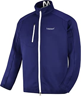 Lesmart Men's Golf Jacket Lightweight Full Zip Loose Training Track Active Spring Fall