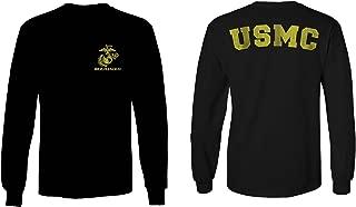 Marines Marine Corps USMC Logo Seal United States America USA American Long Sleeve Men's