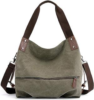 Laqiya Damenhandtasche, Canvas große Totes Canvas Taschen für Damen Schultertasche Hobo Bags