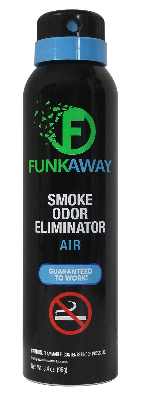 FunkAway Smoke Odor Eliminator Spray, 3.4 oz. | for Air | Works On All Types of Smoke Odors (FASM3.4)