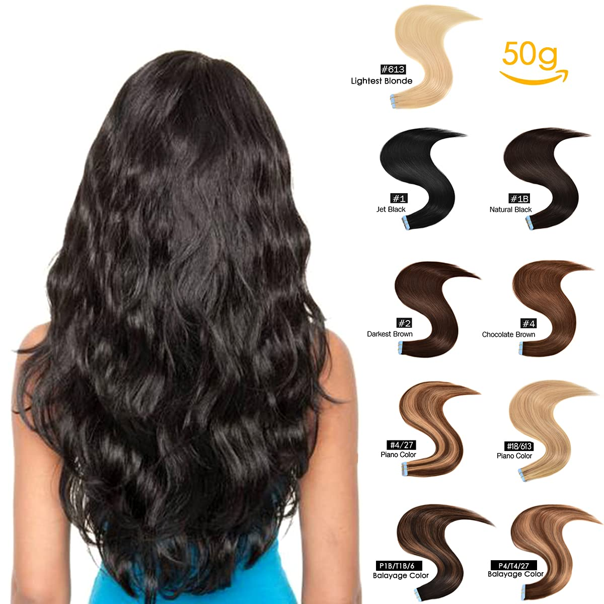 GEELOOK 18 inch Regular dealer Tape in Hair Remy Extensio Human Bombing free shipping Extensions