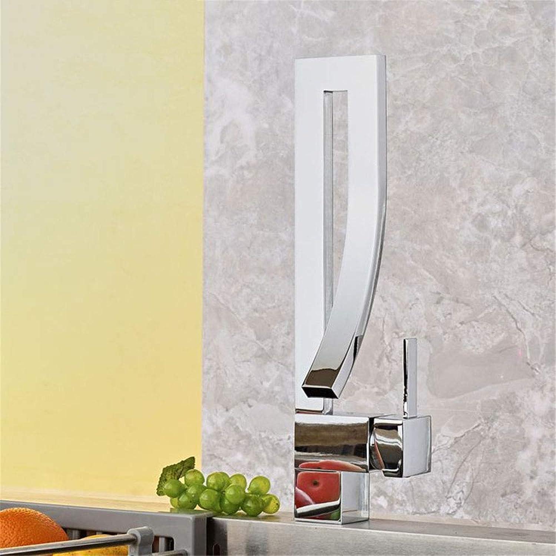 Kupfer Waschbecken Wasserhahn heien und kalten Wasserhahn, Silber, 40mm  50cm
