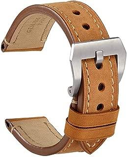 Correa Reloj Vintage de Cuero Genuino, Correa de 18mm 20mm 22mm 24mm, Ideal para Hombres
