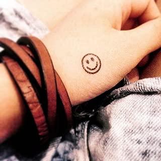 Smiley Symbol Temporary Fake Tattoo Sticker (Set of 6) - www.ohmytat.com